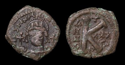 JUSTINIAN I HALF FOLLIS THEUPOLIS 562/563 AD-0