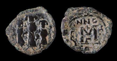 HERACLIUS 610-641 AD FOLLIS.-0