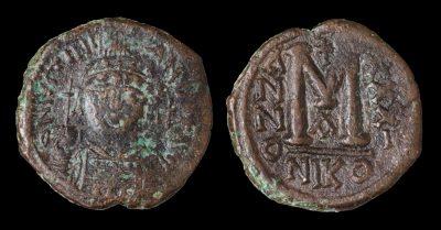 JUSTINIAN I FOLLIS NICOMEDIA 556/557 AD-0