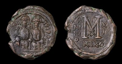 JUSTIN II FOLLIS STRUCK AD 574/575 NICOMEDIA-0