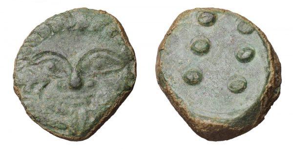 SICILY HIMERA 450-420 BC. HEMILITRON. GORGONEION-0