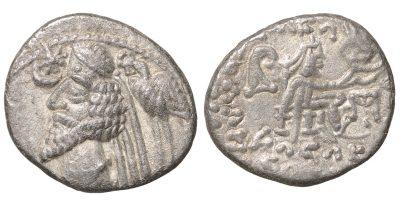 Phraates IV. 38 - 2 B.C.. AR Drachm,-0