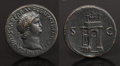 Nero. AE Sestertius. ca 64 AD. -0