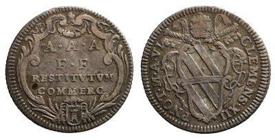 Clemente XII. 1730-1740 d.C. Giulio.-0