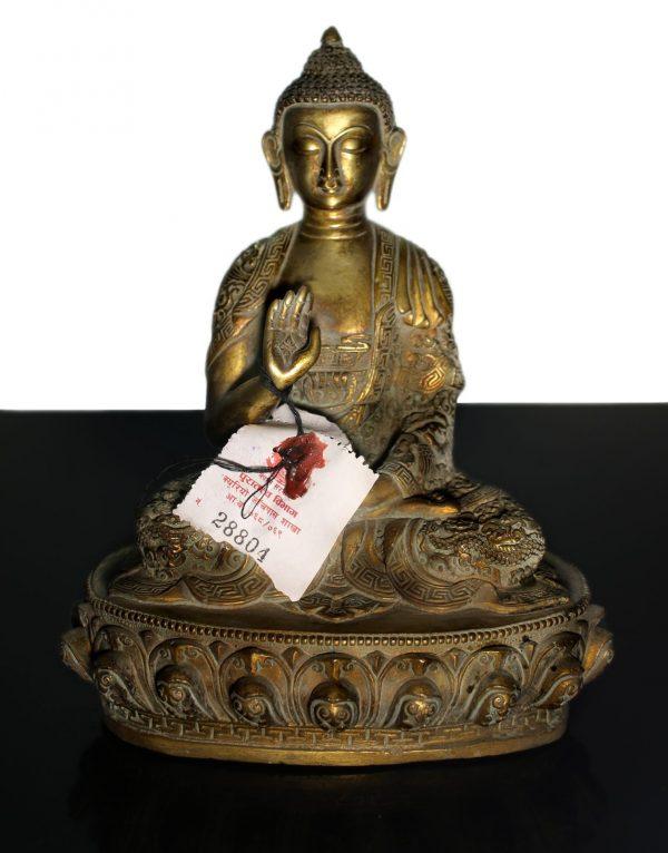 Tibet Shakyamuni Buddha bronze statue End of 1800-0