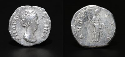 Diva Faustina I. Died A.D. 140/1. AR denarius. -0