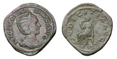OTACILIA SEVERA. 244-249 A.D. SESTERTIUS-0