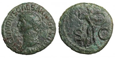 Claudius. 41-54 AD. As-0