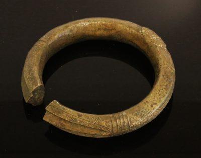 Nigeria. Ibo or Igbo people. Bronze manilla bracelet 1900 AD-0