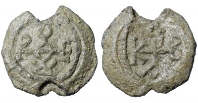 BYZANTINE LEAD SEALS. 9,05 gr. - 23,4 mm. Circa 6th century. -0