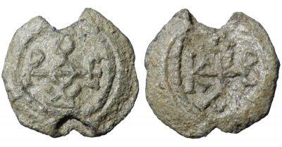 BYZANTINE LEAD SEALS. 9,05 gr. - 23,4 mm. Circa 6th century. -0