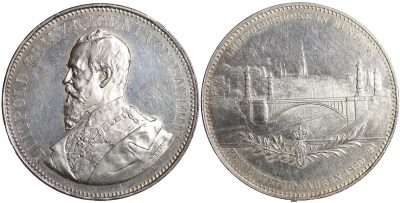 Bavaria. Luitpold silver Medal 1891. Struck to celebrate the building of the Luitpold bridge in Munic-0