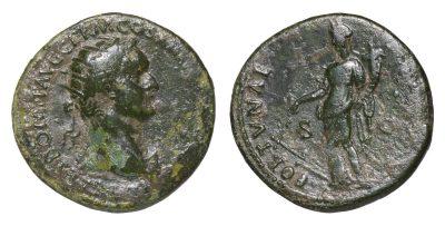 Domitian. 81-96 AD. AE Dupondius. FORTUNA-0