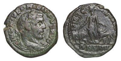 PHILIP I. 244-249 AD. PROVINCIAL BRONZE MOESIA.-0