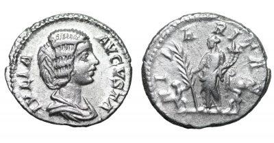 Julia Domna. 196-211 AD. Denarius. Laodicea mint, struck 196-211 AD-0