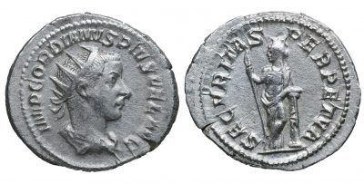 Gordian III. AR Antoninianus. 243-244, Fifth Issue, Rome-0