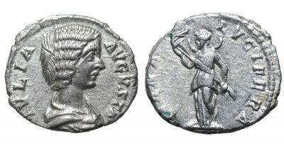 Julia Domna. Denarius. 193-211 AD Diana -0