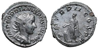 Gordian III. AR Antoninianus, 240, Third Issue, Rome-0