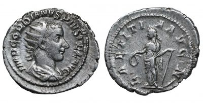 Gordian III. AR Antoninianus, 241-243, Fourth Issue, Rome. -0