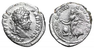 Septimius Severus. 193-211 AD. Denarius. -0