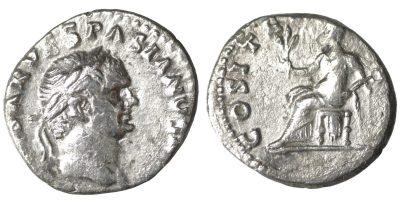 Vespasian. Denarius. 70 AD Pax-0