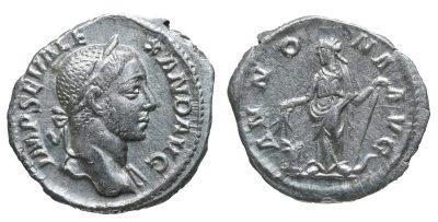 Severus Alexander. Denarius. AD 231. XF-0