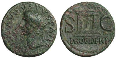 Divus Augustus. Æ As. Struck under Tiberius, circa 31-37 AD.-0