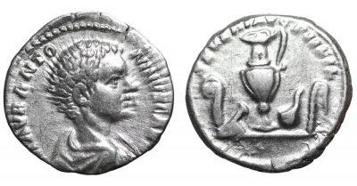 Caracalla, as Caesar. 195-6 AD. Denarius. SCARCE. VF+-0