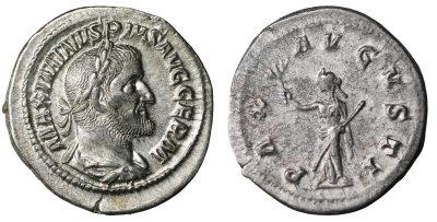 Maximinus I, Thrax. 235-238 AD. Denarius. XFUNC-0