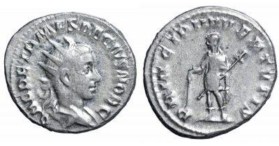 Herennius Etruscus. AR Antoninianus. RARE. VF+ -0